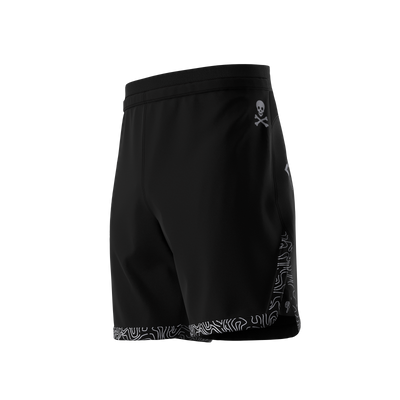 Sub Club - Black/White Grappling Shorts