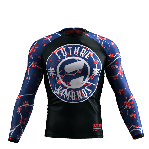 Blood Blossom - Long Sleeve Rash Guard