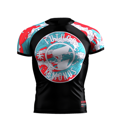 Blood In The Water - Short Sleeve Rash Guard