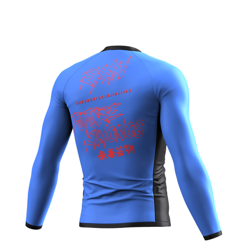 UNDER DAWG - BLUE LONG SLEEVE RASH GUARD