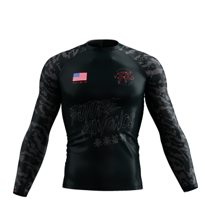 UNDER DAWG - GREY LONG SLEEVE RASH GUARD