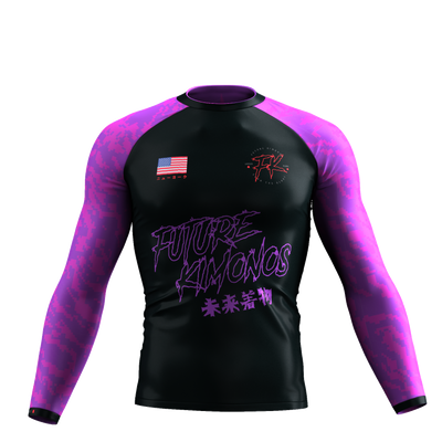 UNDER DAWG - PURPLE LONG SLEEVE RASH GUARD