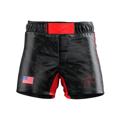 UNDER DAWG - RED COMP SHORTS