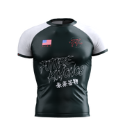 UNDER DAWG - WHITE SHORT SLEEVE RASH GUARD