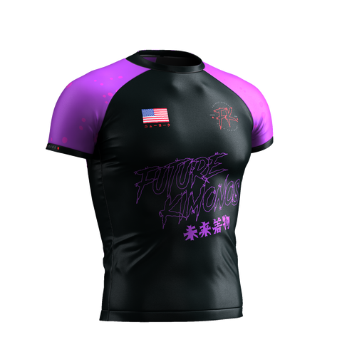 UNDER DAWG - PURPLE SHORT SLEEVE RASH GUARD