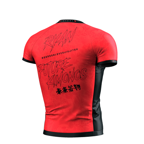 UNDER DAWG - RED SHORT SLEEVE RASH GUARD
