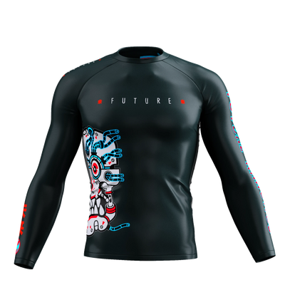 Future Kimonos v1.0 - BLACK Long Sleeve Rash Guard