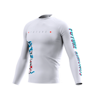 Future Kimonos v1.0 - WHITE Long Sleeve Rash Guard