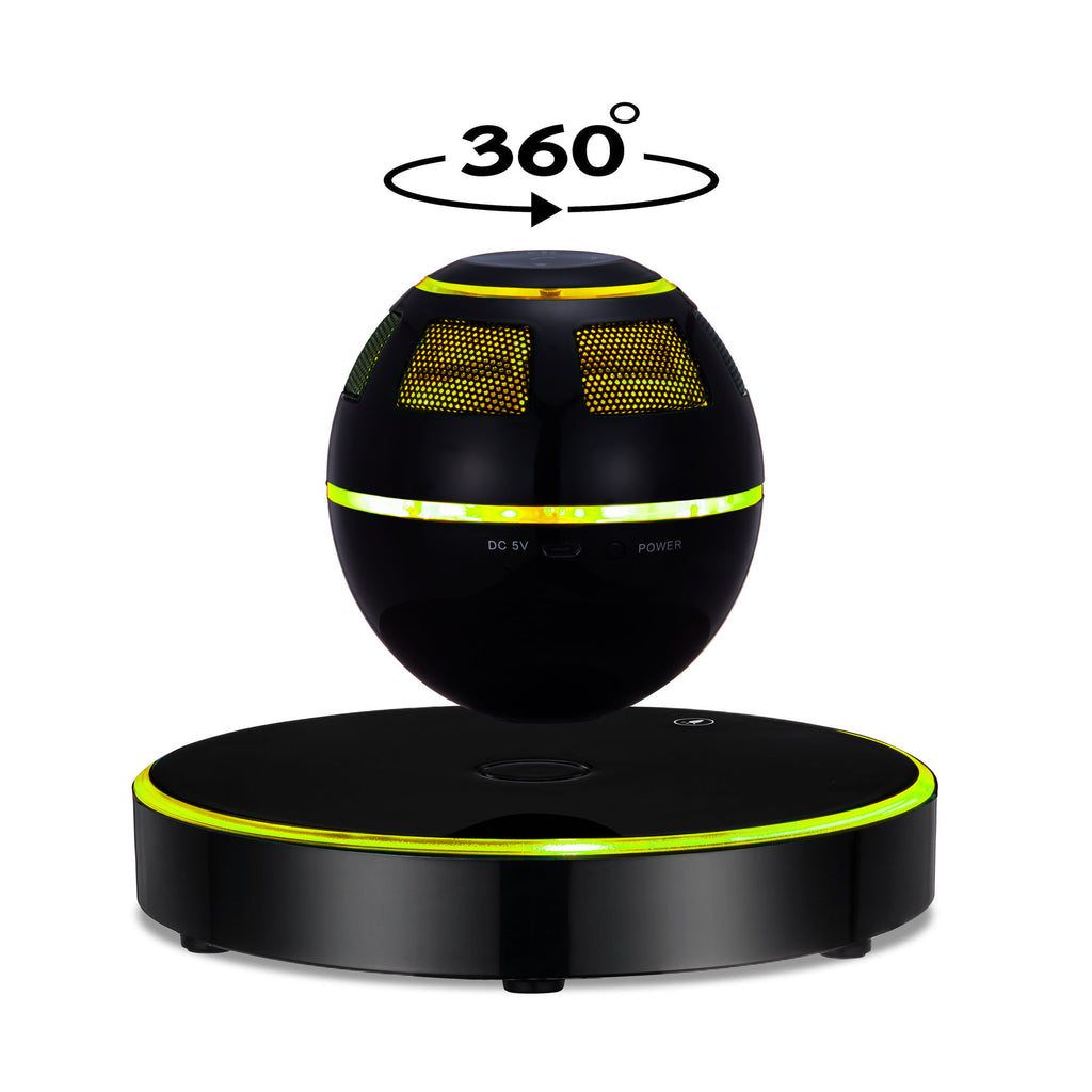 Levitating Speaker, ESOTICA Floating Speaker with Bluetooth 4.1, 360 Degree Rotation, Touch Control Button and Colorful LED Flashing Show Magnetic
