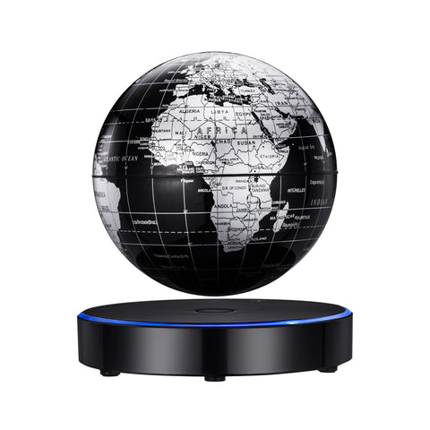 Image of Levitating globe ESOTICA  6'' globe anti gravityrRotating world map with LED light for children educational gift home office desk decoration