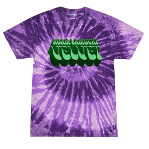 Deep Purple Tie-Dye Logo Tee