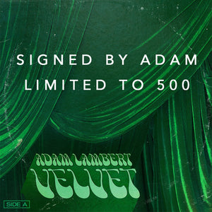 SIGNED Copy of Adam Lambert VELVET: Side A CD