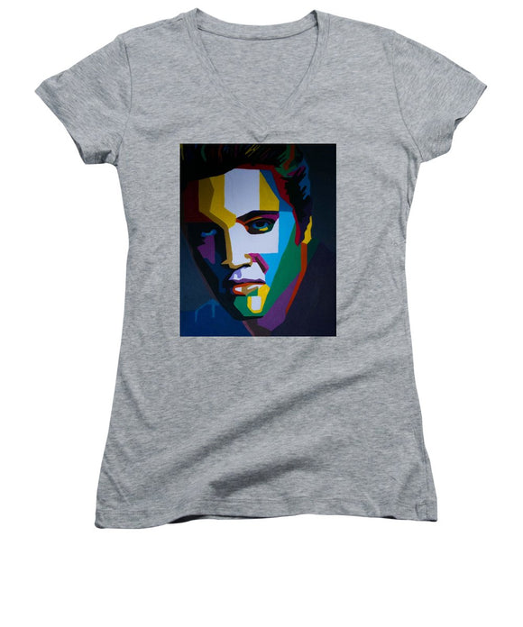 The King In Profile - Women's V-Neck (Athletic Fit)