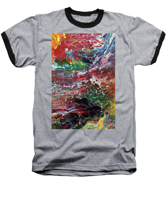 Colorful Chaos - Baseball T-Shirt