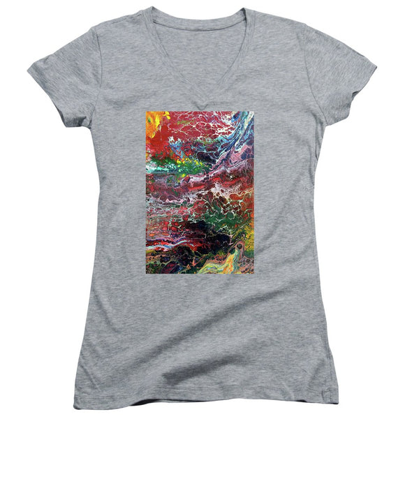 Colorful Chaos - Women's V-Neck (Athletic Fit)