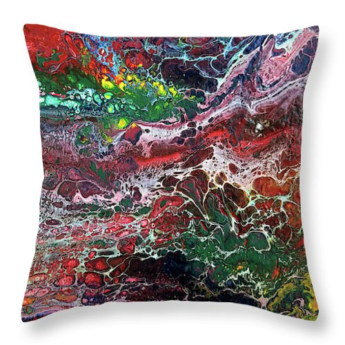 Colorful Chaos - Throw Pillow