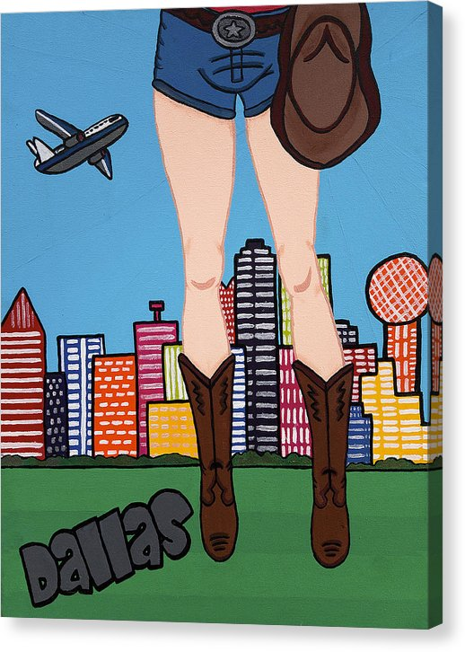 Dallas Pop Tart - Canvas Print