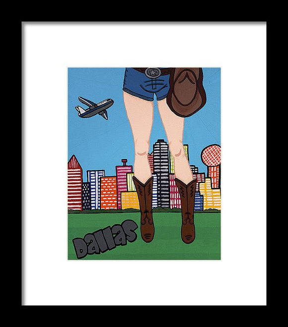 Dallas Pop Tart - Framed Print