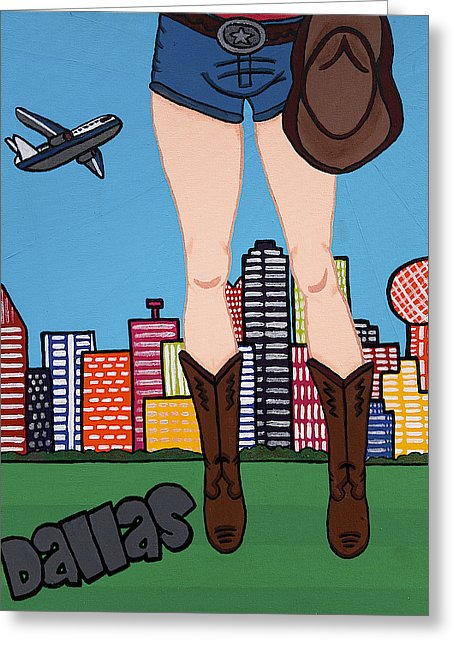 Dallas Pop Tart - Greeting Card
