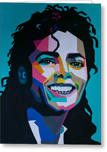 King Of Pop Art - Greeting Card