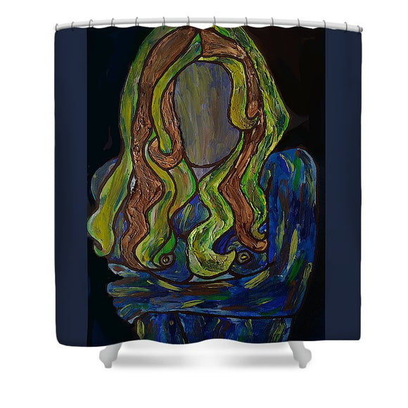 Why So Blue - Shower Curtain