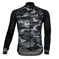 Wood Camo Long Sleeve Thermo Cycling Jersey-PARIA.CC