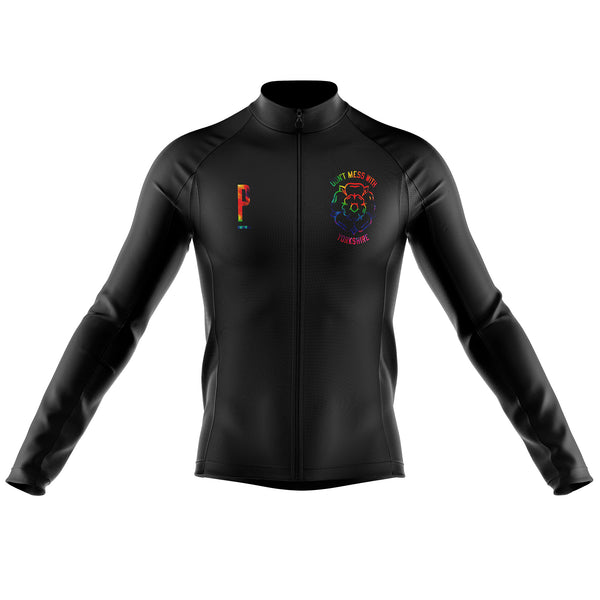 Don't Mess With Yorkshire Long Sleeved Tie Dye Cycling Jersey-PARIA.CC