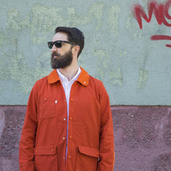 Hjul Orange Waxed Cotton Jacket