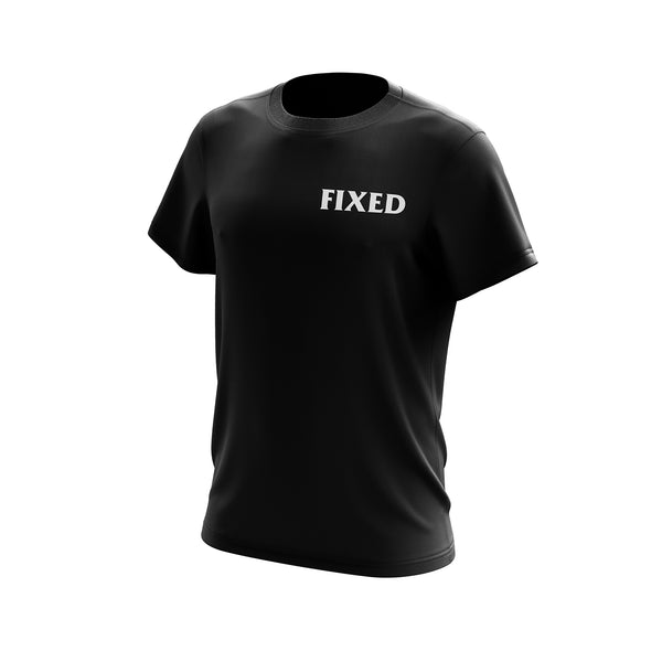 Black Mag Fixed Gear Cyclist Tee