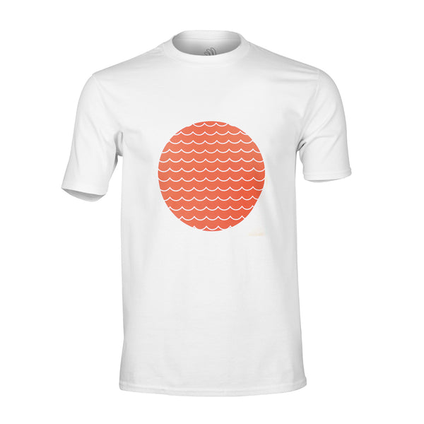 HJUL Orange Wave Print Tee-PARIA.CC