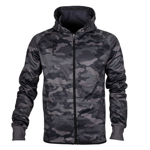 Full Camo Tech Zip Cycling Hoodie