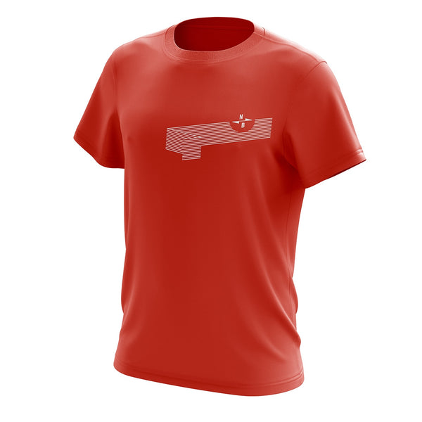Northbrew Co Wave Red Tee