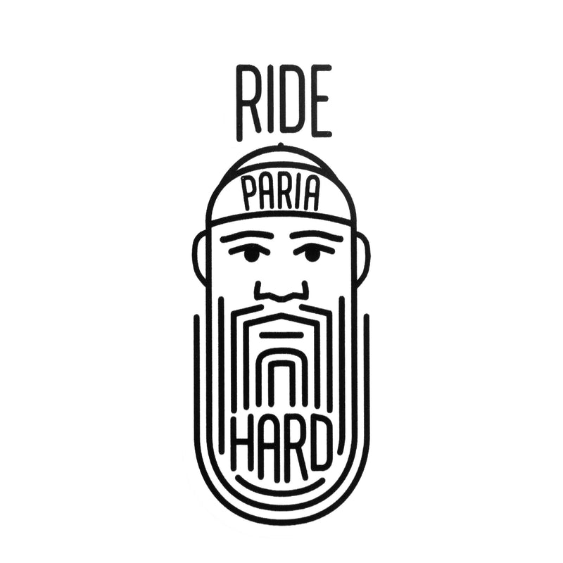 Cycling Inspired,Paria Ride Hard Sticker, Bearded Sticker, Beard sticker, Sticker, Sticker Dopin
