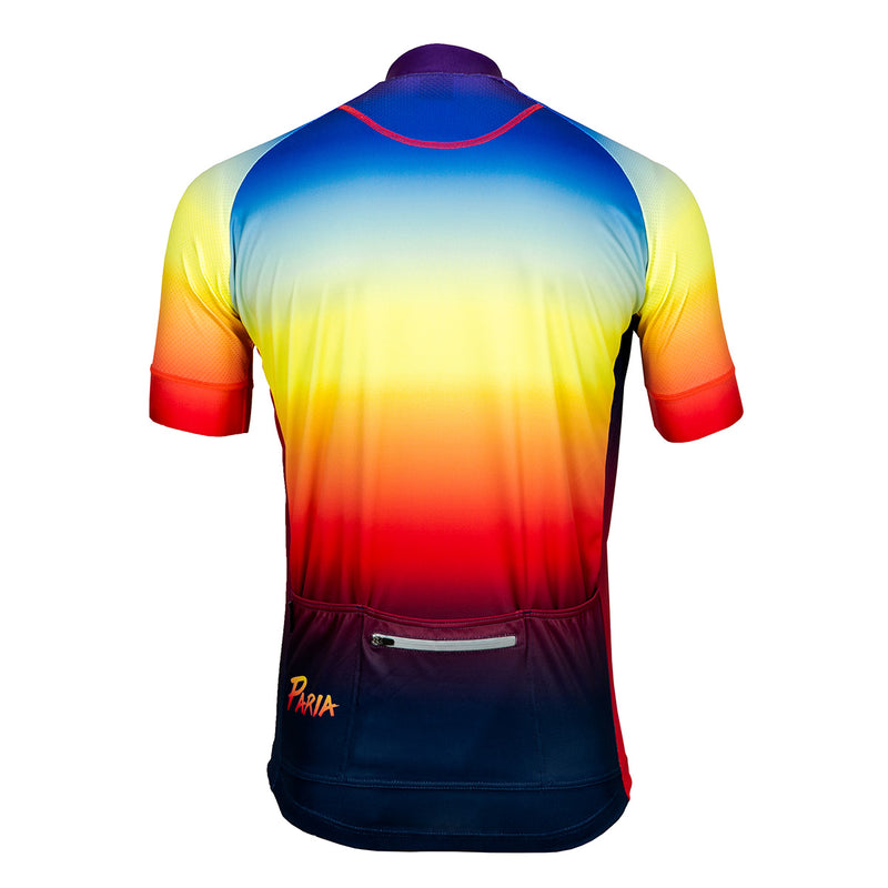 Outrun Paria Cycling Jersey, Fade cycling jersey, sunset cycling jersey, sunset fade cycling