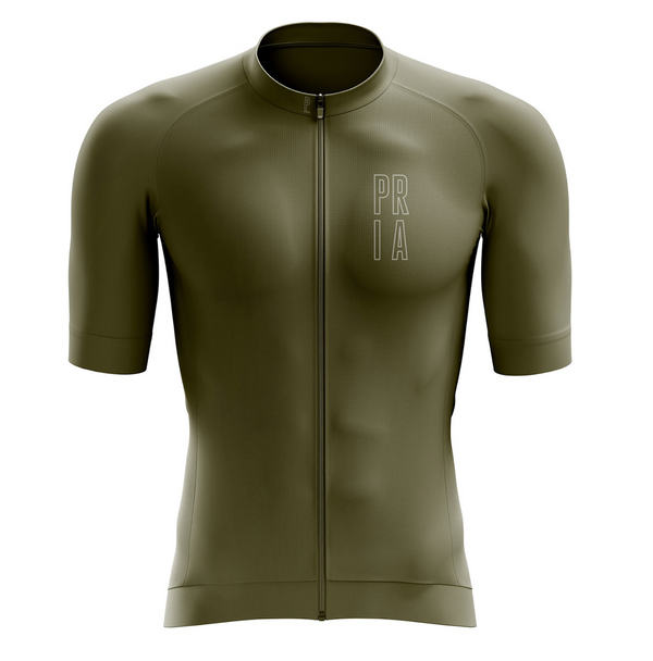 Olive Green Race Fit Women's Cycling Jersey