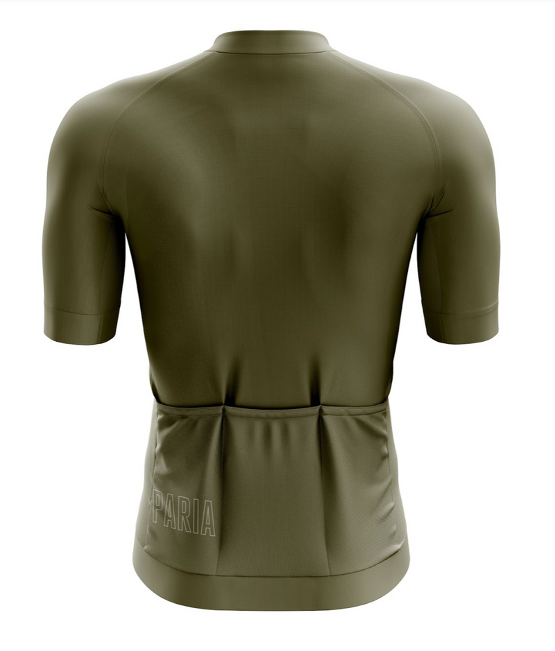Olive Green Men's Race fit Jersey