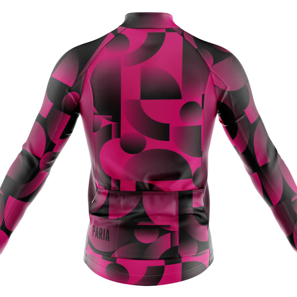 Xanthe Colab Geo Print Long Sleeve Winter Cycling Jersey