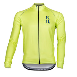 Hi Viz Long Sleeve Thermo Cycling Jersey-PARIA.CC