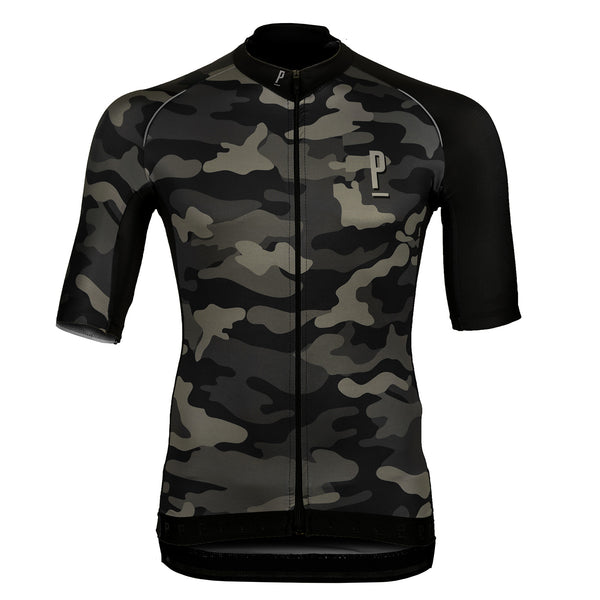 Race Fit Camo Print Cycling Jersey-PARIA.CC