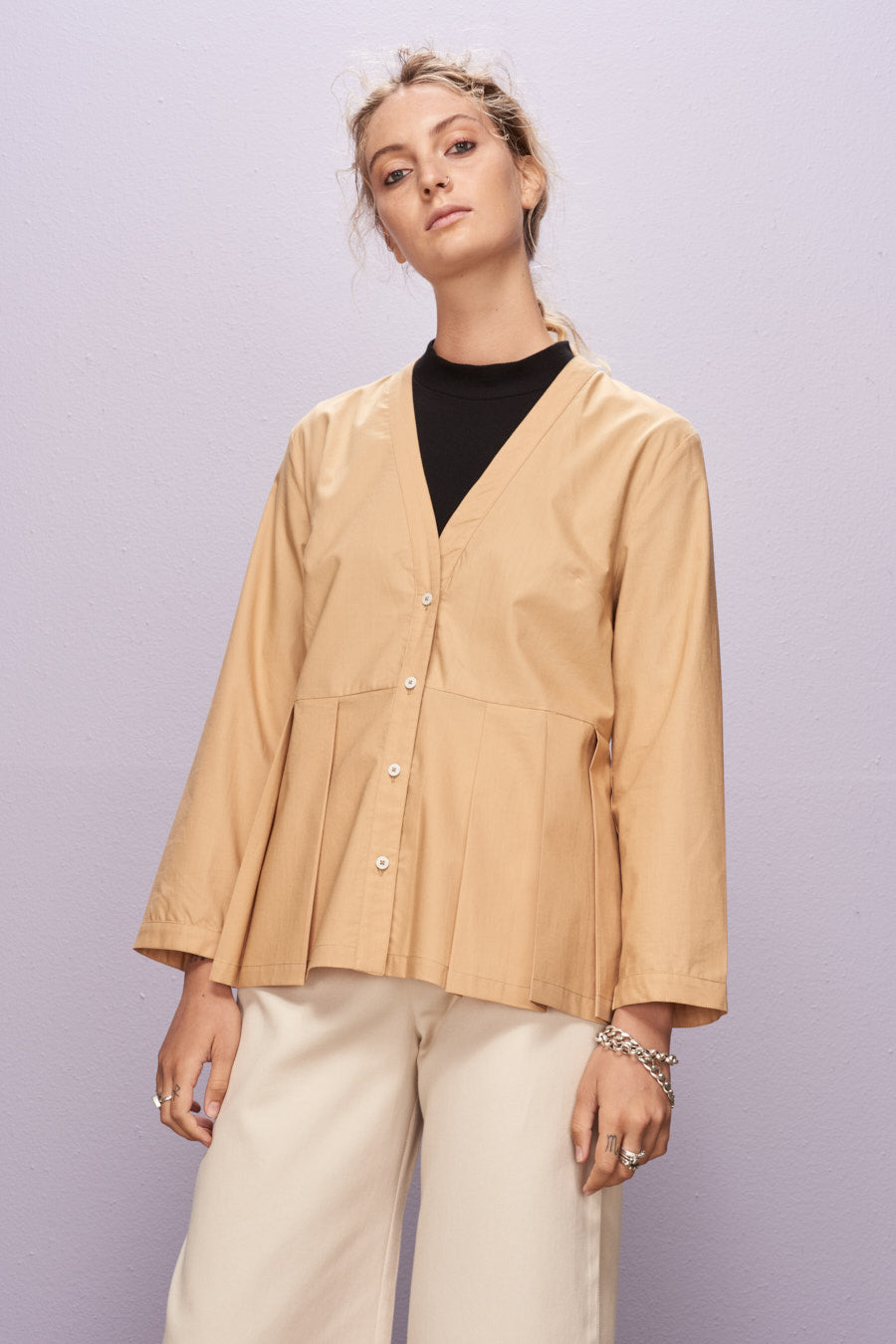Fold Out Shirt, Tan