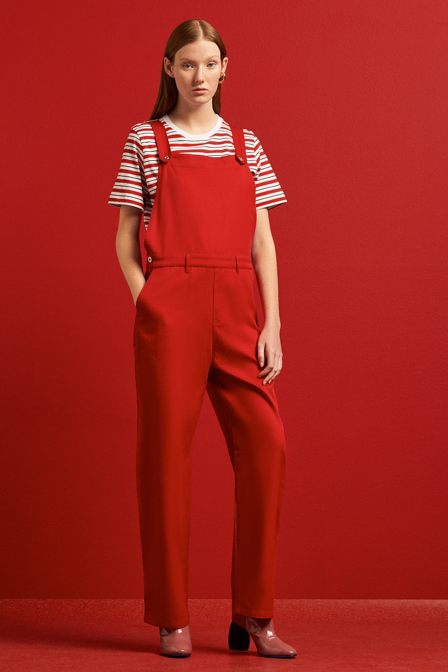 Runaway Overalls, Red