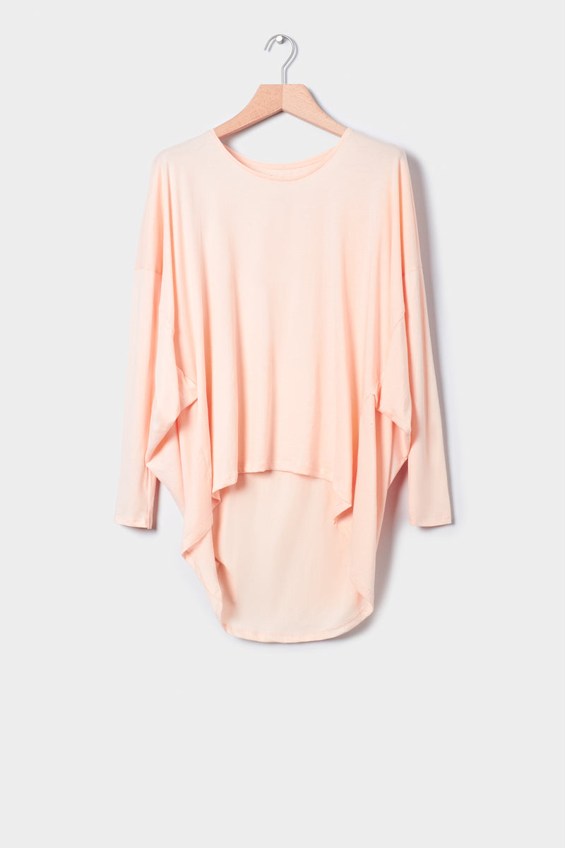 Building Block Drape Top, Light Pink