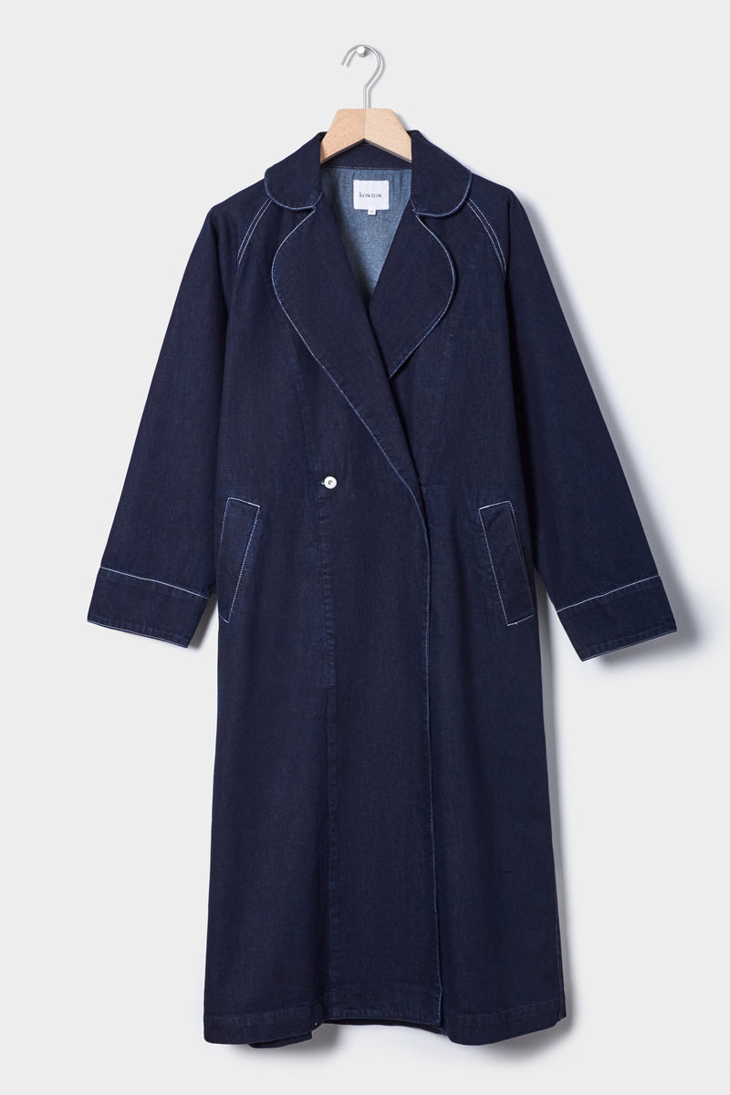 Heritage Trench Coat, Dark Denim