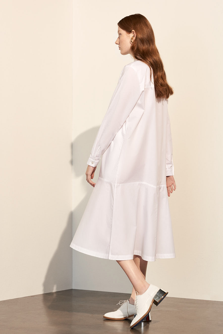 Monologue Shirt Dress, White