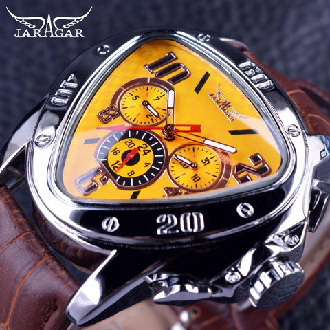 Jaragar Sport Fashion Design Geometric  Men Watch