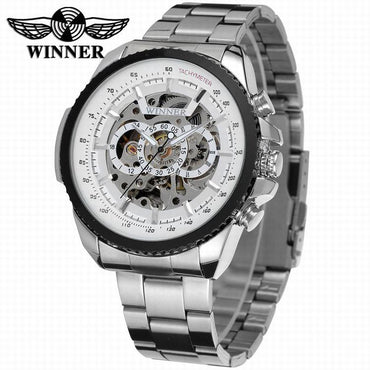 Black Automatic mechanical stainless Steel Men Watch