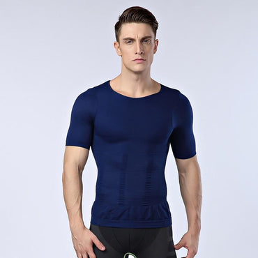mens posture corrector t shirt tight chest shapers.