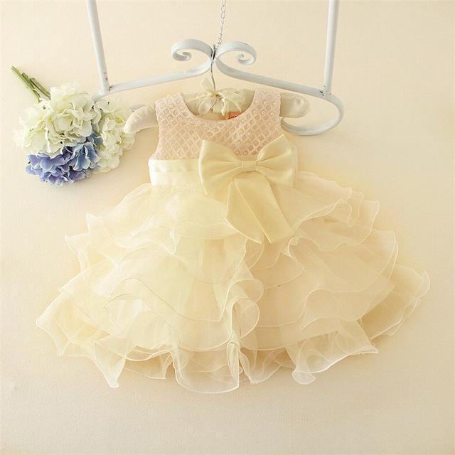 Hot Lace flower girls wedding baby dress.