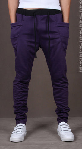 8 Colors Unique Pocket Mens Joggers Harem Pants.