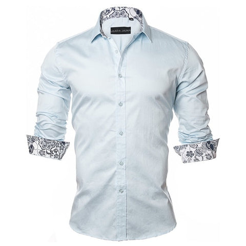VISADA JAUNA Men's Shirt 2017 New Arrivals Fashion Casual Style.